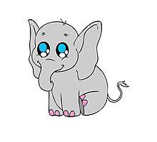 Baby Elephant Photographic Print