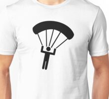 Skydiving icon Unisex T-Shirt