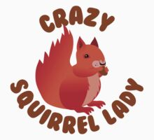 Crazy (RED) Squirrel lady in a circle One Piece - Short Sleeve