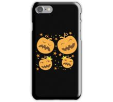 A Halloween creepy pumpkin pattern iPhone Case/Skin