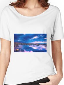 Dawn approaches at the rock pool Women's Relaxed Fit T-Shirt