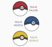 Team Valor - Team Mystic - Team Instinct Kids Tee