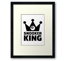 Snooker king crown Framed Print