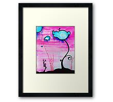 Cloudy Trees Framed Print