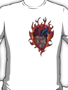 Hearts on fire tonight side version T-Shirt