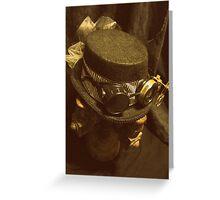 Steampunk Ladies Hat 1.0 Greeting Card