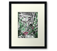 modular synthesizer T Framed Print