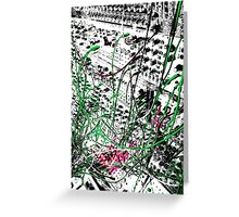 modular synthesizer T Greeting Card