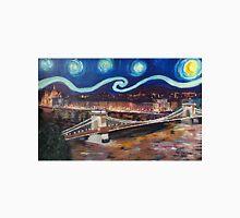 Sternennacht über Budapest in Ungarn mit Donau und Parlament - Van Gogh inspiriert Unisex T-Shirt