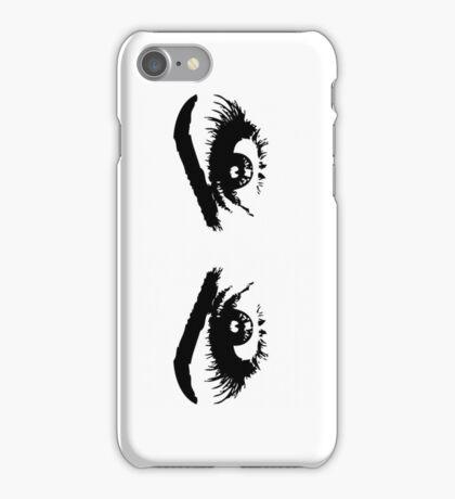 Eyes & eyebrows motif iPhone Case/Skin