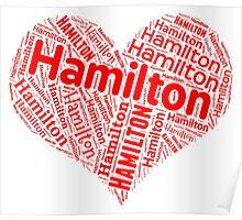 Hamilton - Red Heart Poster