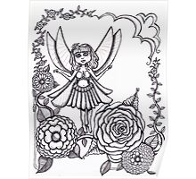 Fairy and flowers  Poster