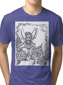 Fairy and flowers  Tri-blend T-Shirt
