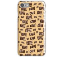 Multi-lingual coffee wallpaper iPhone Case/Skin