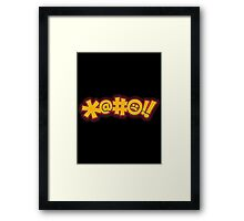 Scifi Cussing Framed Print
