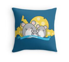 Family of mice Throw Pillow
