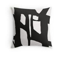 Abstract, Art, Abstract print, Black, White, Modern art, Wall decor Throw Pillow