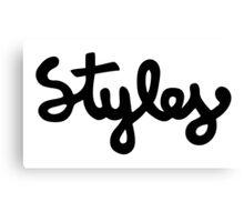 Harry Styles - Styles Black Canvas Print