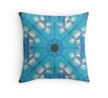 Ice Crystals Abstract Pattern Throw Pillow