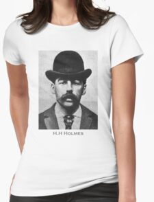 H.H Holmes Americas First Serial Killer Womens Fitted T-Shirt