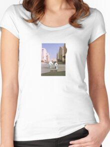 Pink D Women's Fitted Scoop T-Shirt
