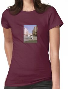 Pink D Womens Fitted T-Shirt