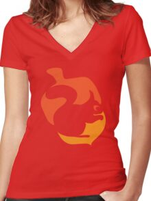 Squirrel in Acorn Women's Fitted V-Neck T-Shirt