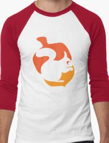 Squirrel in Acorn Men's Baseball ¾ T-Shirt