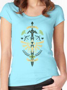Zelda Crest Women's Fitted Scoop T-Shirt