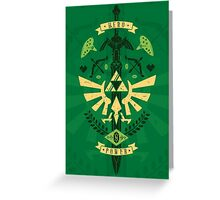 Zelda Crest Greeting Card
