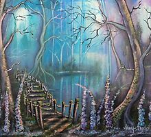 Waterfall Valley by Krystyna Spink