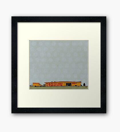 I-80 Flea Market Illustration Framed Print