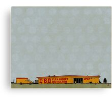 I-80 Flea Market Illustration Canvas Print
