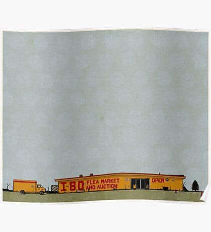 I-80 Flea Market Illustration Poster
