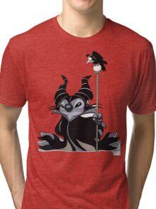 Maleficent Stitch Tri-blend T-Shirt