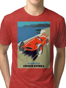 Retro style auto Grand Prix Rivièra Tri-blend T-Shirt