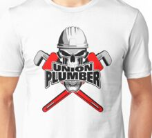 Union Plumber: Skull and Pipe Wrenches Unisex T-Shirt
