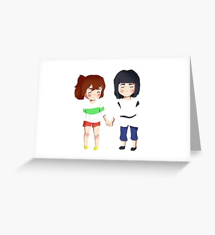 Spirited Away- Chihiro and Haku Greeting Card