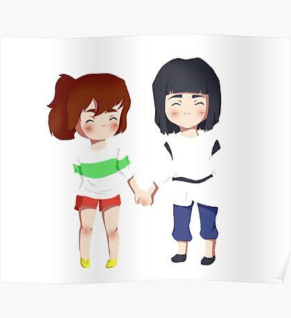 Spirited Away- Chihiro and Haku Poster