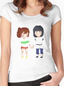 Spirited Away- Chihiro and Haku Women's Fitted Scoop T-Shirt