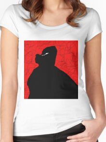 Black and red abstraction Women's Fitted Scoop T-Shirt