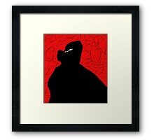 Black and red abstraction Framed Print