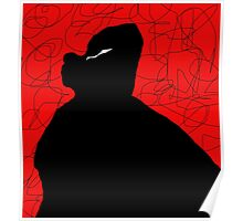 Black and red abstraction Poster