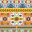 Colorful pattern in tribal style by Olena Syerozhym