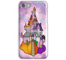 Beauty and The Beast Castle Illustration  iPhone Case/Skin