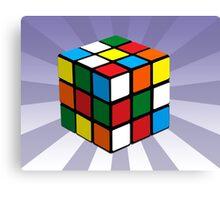 Puzzle Cube Canvas Print