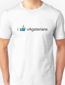 I Like vAgatarians (big/rainbow) T-Shirt