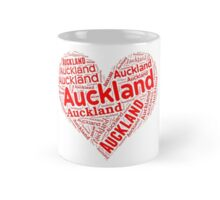 Auckland - Red Heart Mug