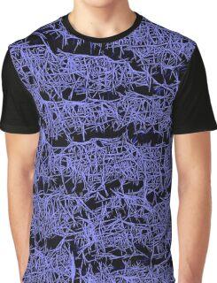 Dark and Purple pattern Graphic T-Shirt