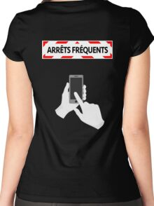 Arrêts fréquents - Smartphone Women's Fitted Scoop T-Shirt